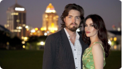 Tom and Maimee in South Africa - Copyright BBC Worldwide