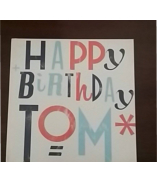 Tom's birthday message book (photo Cheryl Anderson)