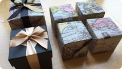 Beautifully wrapped presents for Tom (Photo Fiona Perry)